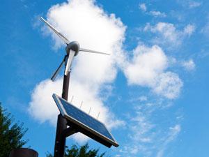 風力で発電させる仕組み